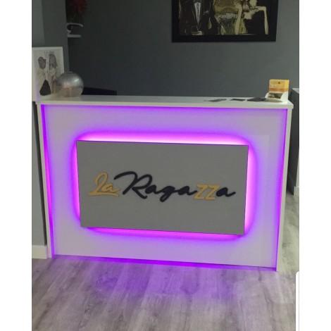 Recepcion 120x80x110cm Con iluminacion Led RGB  Rotulacion Opcional 75€