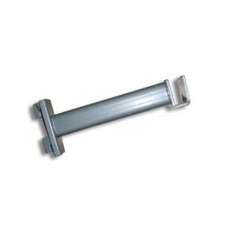 Soporte cromado de cremallera, para tubo rectangular 20cm