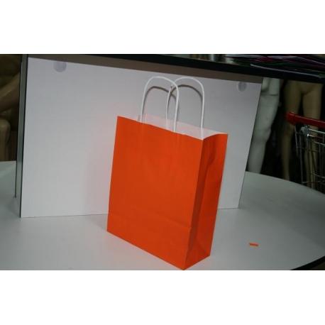 Bolsa en color naranja 22x27x10cm