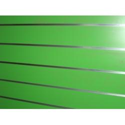 Panel de lama color verde  medidas 1.20x1.20 con perfiles de aluminio incluidos