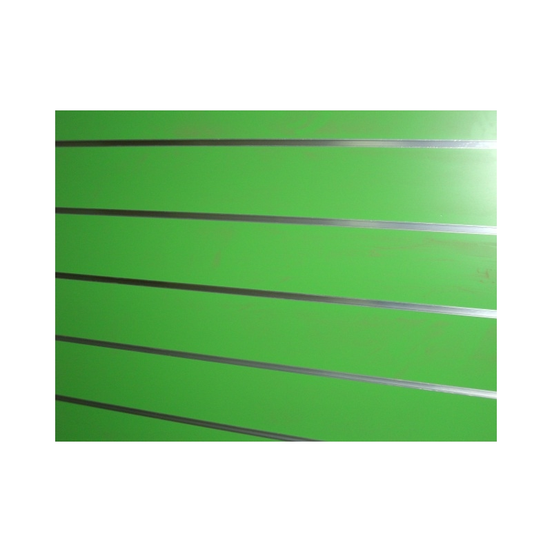 Panel de lama color verde medidas con perfiles for Colores de perfiles de aluminio