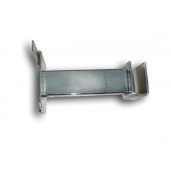 Soporte de tubo cromado rectangular para lama 10cm.