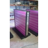 Gondolas Expositoras de panel de lama 125x130x60cm, con cremalleras en los laterales.