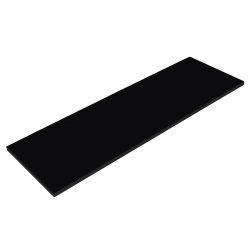 Balda de Madera 120x25cm,  Color Negro