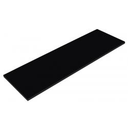 Balda de Madera 120x30cm, Color Negro
