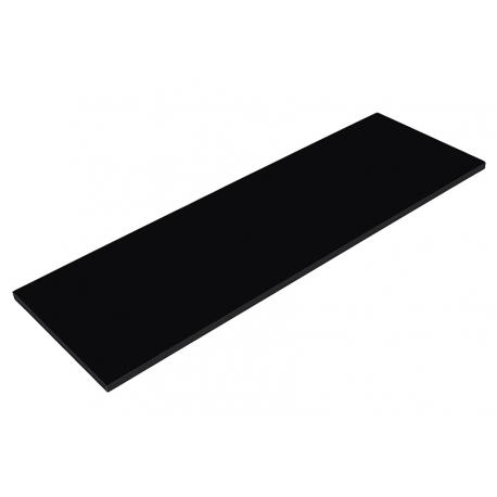 Balda de madera 120x30cm color negro - Balda de madera ...