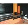 Panel de lama color naranja medidas 1.20x1.20 con perfiles de aluminio incluidos