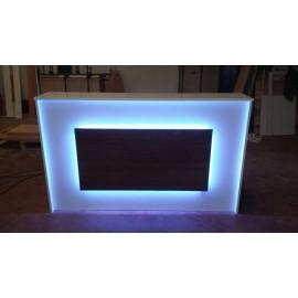 Mostrador 150x50x95cm Con iluminacion Led
