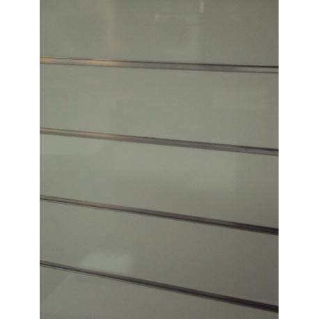 Panel de lamas blanco lacado medidas 1.20x1.20 con perfiles de aluminio incluidos