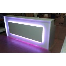 Recepcion 240x80x110cm Con Iluminacion Led RGB