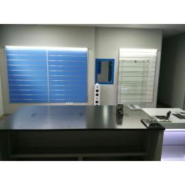 Panel de lama color azul claro medidas 1.20x1.20 con perfiles de aluminio incluidos