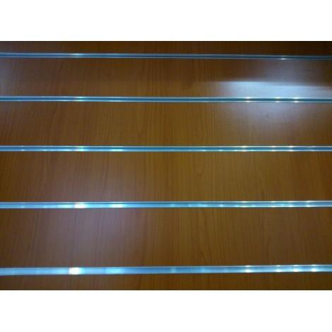 Panel de lamas color cerezo medidas 1.20x1.20 con perfiles de aluminio incluidos