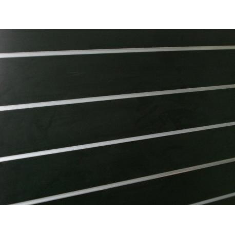 Panel de lamas color negro medidas 1.20x1.20 con perfiles de aluminio incluidos