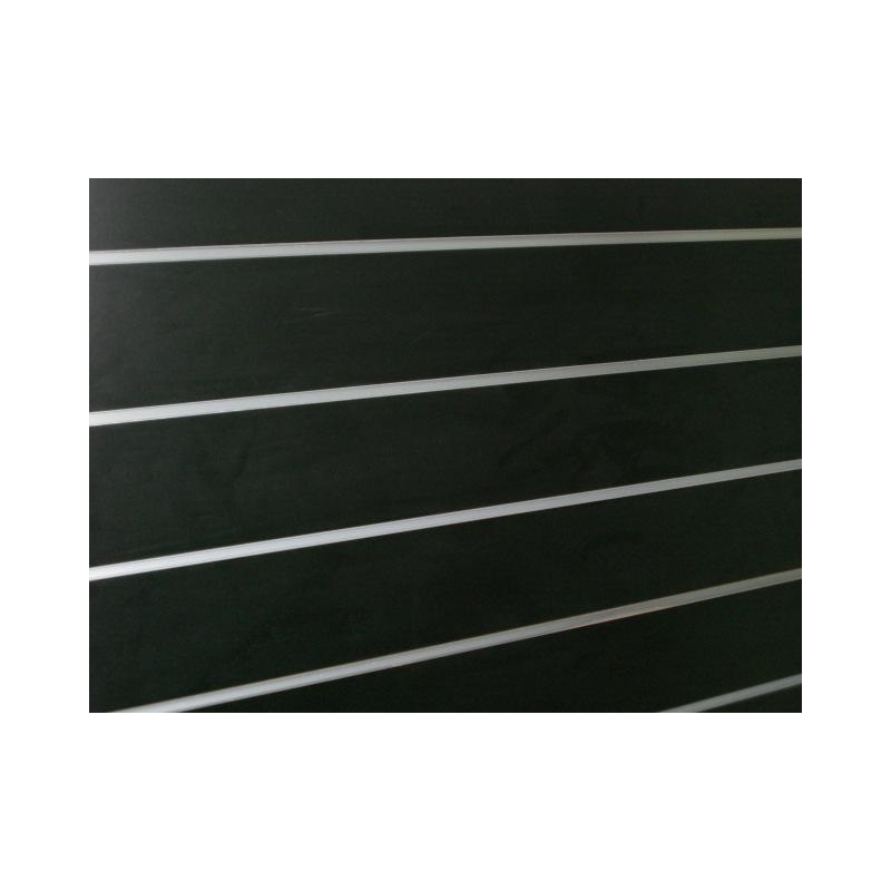 Panel de lamas color negro medidas con perfiles for Colores de perfiles de aluminio