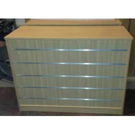 Mostrador Frontal Panel de Lama 120x50x95cm