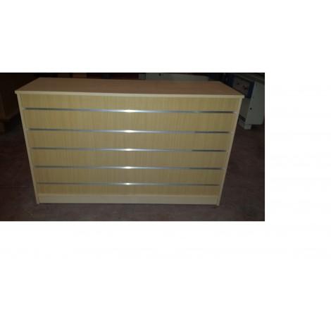 Mostrador Frontal Panel de Lama 125x50x95cm