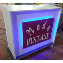 Mostrador Con iluminacion Led  120x50x95cm